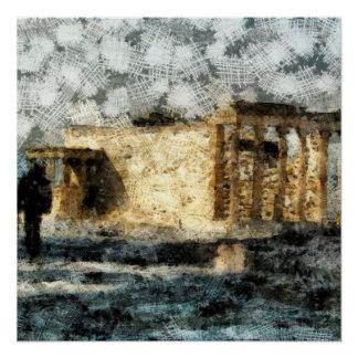 アクロポリスの場所の訪問 ポスター