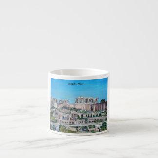 アクロポリス、アテネの専門のマグ エスプレッソカップ