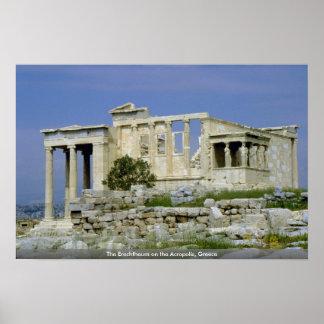 アクロポリス、ギリシャのErechtheum ポスター