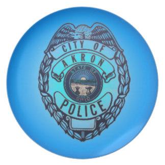 アクロンの警察の版 プレート