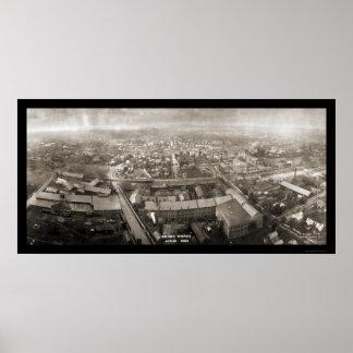 アクロンはオハイオ州の写真1907年を働かせます ポスター