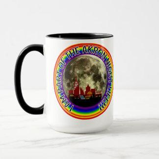 アクロンオハイオ州のナイトライフのマグ マグカップ