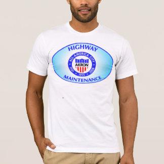 アクロンオハイオ州のハイウェーの維持のワイシャツ Tシャツ