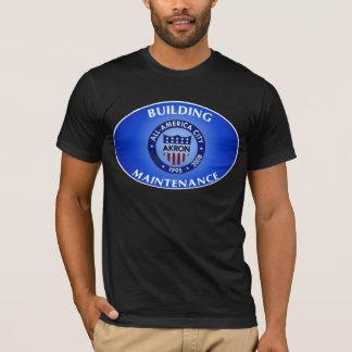 アクロンオハイオ州の建物の維持のワイシャツ Tシャツ