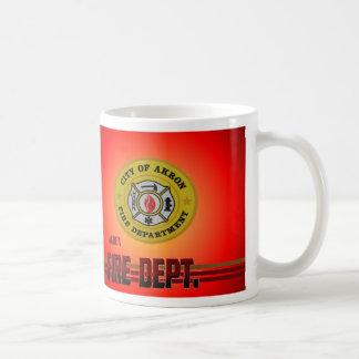 アクロンオハイオ州の消防署のマグ コーヒーマグカップ