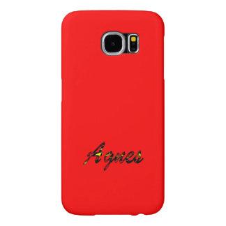 アグネスSamsungの銀河系カバーenの赤いスタイル Samsung Galaxy S6 ケース