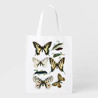 アゲハチョウの幼虫、蝶およびガ エコバッグ