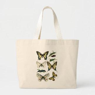 アゲハチョウの幼虫、蝶およびガ ラージトートバッグ