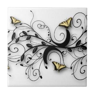 アゲハチョウの蝶デザイン タイル