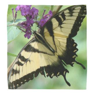 アゲハチョウの蝶花の花柄のバンダナ バンダナ
