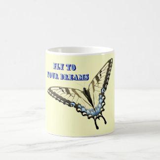 アゲハチョウの蝶 コーヒーマグカップ
