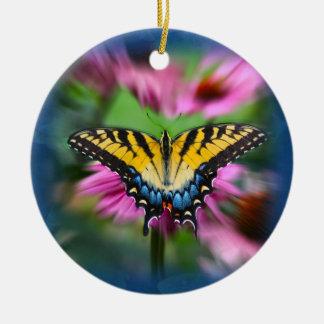 アゲハチョウの蝶 セラミックオーナメント