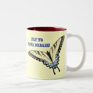 アゲハチョウの蝶 ツートーンマグカップ