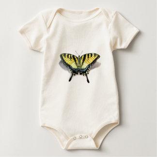 アゲハチョウの蝶 ベビーボディスーツ