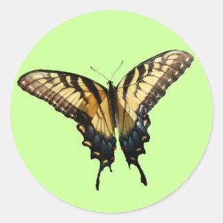 アゲハチョウの蝶III美しくカラフルな写真 ラウンドシール