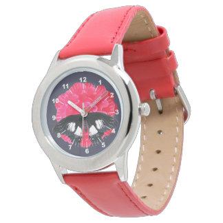 アゲハチョウは上がり、 腕時計