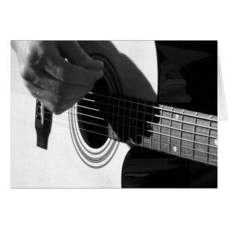 アコースティックギターのひも カード