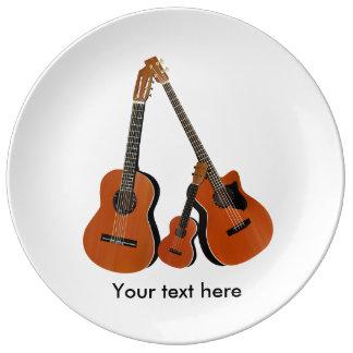 アコースティックギターのウクレレおよび音響の低音 磁器プレート