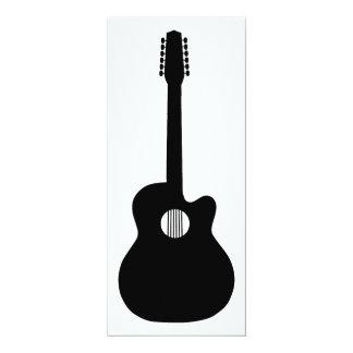 アコースティックギターのシルエット カード