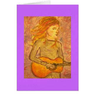 アコースティックギターのスケッチ カード