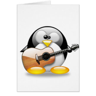 アコースティックギターのタキシード(Linuxのタキシード) カード