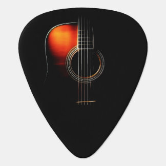 アコースティックギターのデザインのPlectrum版1 ギターピック