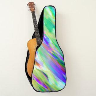 アコースティックギターのバッグのカラフルなデジタルに芸術のはねかけること ギターケース