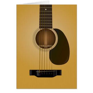 アコースティックギターのメッセージカードのデザイン カード