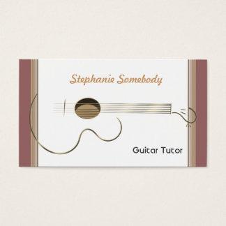 アコースティックギターのロゴの名刺のテンプレート 名刺