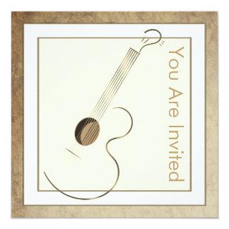 アコースティックギターのロゴの招待状 13.3 スクエアインビテーションカード
