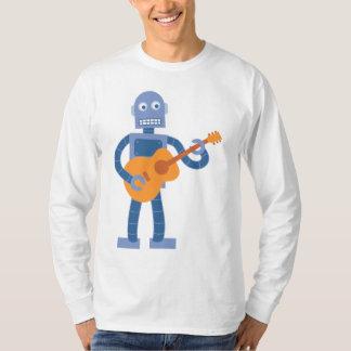 アコースティックギターのロボット Tシャツ