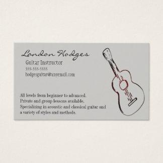 アコースティックギターの名刺のテンプレート 名刺