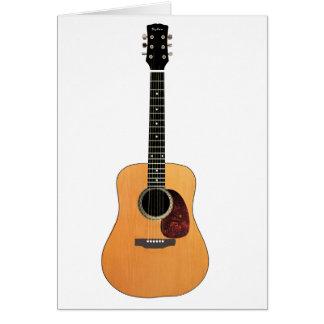 アコースティックギターの垂直 カード