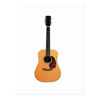 アコースティックギターの垂直 ポストカード