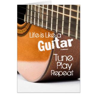 アコースティックギターの引用文カード グリーティングカード