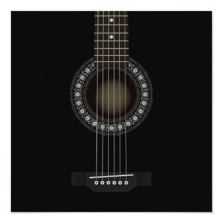 アコースティックギターの招待状 カード