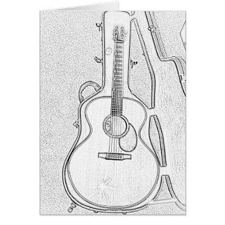 アコースティックギターの挨拶状を遊ぶ時間 カード