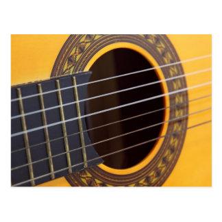 アコースティックギターの背景 ポストカード