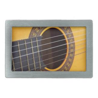 アコースティックギターの背景 長方形ベルトバックル