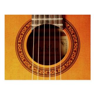 アコースティックギターの詳細 ポストカード