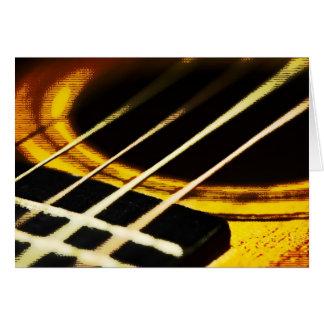 アコースティックギターの郵便はがき カード
