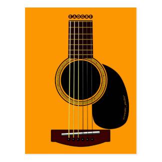 アコースティックギターの郵便はがき ポストカード