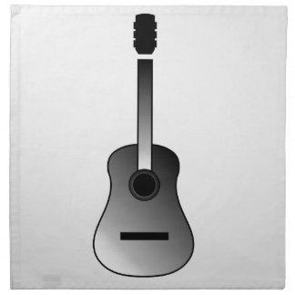 アコースティックギターはシンプルな色です ナプキンクロス