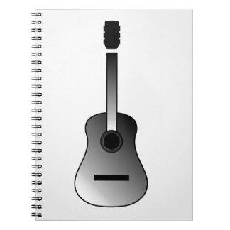 アコースティックギターはシンプルな色です ノートブック