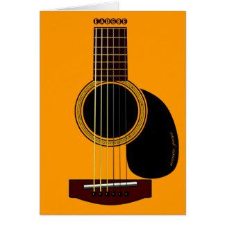 アコースティックギターカード グリーティングカード