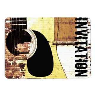 アコースティックギタージャズ込み合いの招待 カード