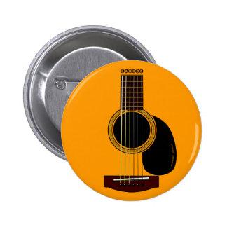 アコースティックギターボタン 5.7CM 丸型バッジ