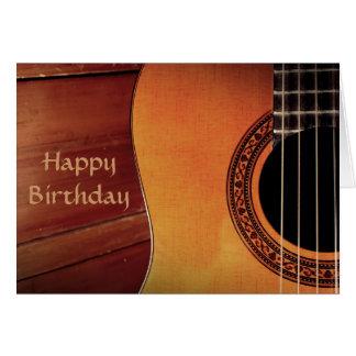 アコースティックギター木音楽ハッピーバースデー カード