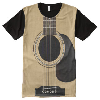 アコースティックギター オールオーバープリントT シャツ