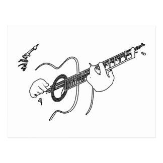 アコースティックギター ポストカード